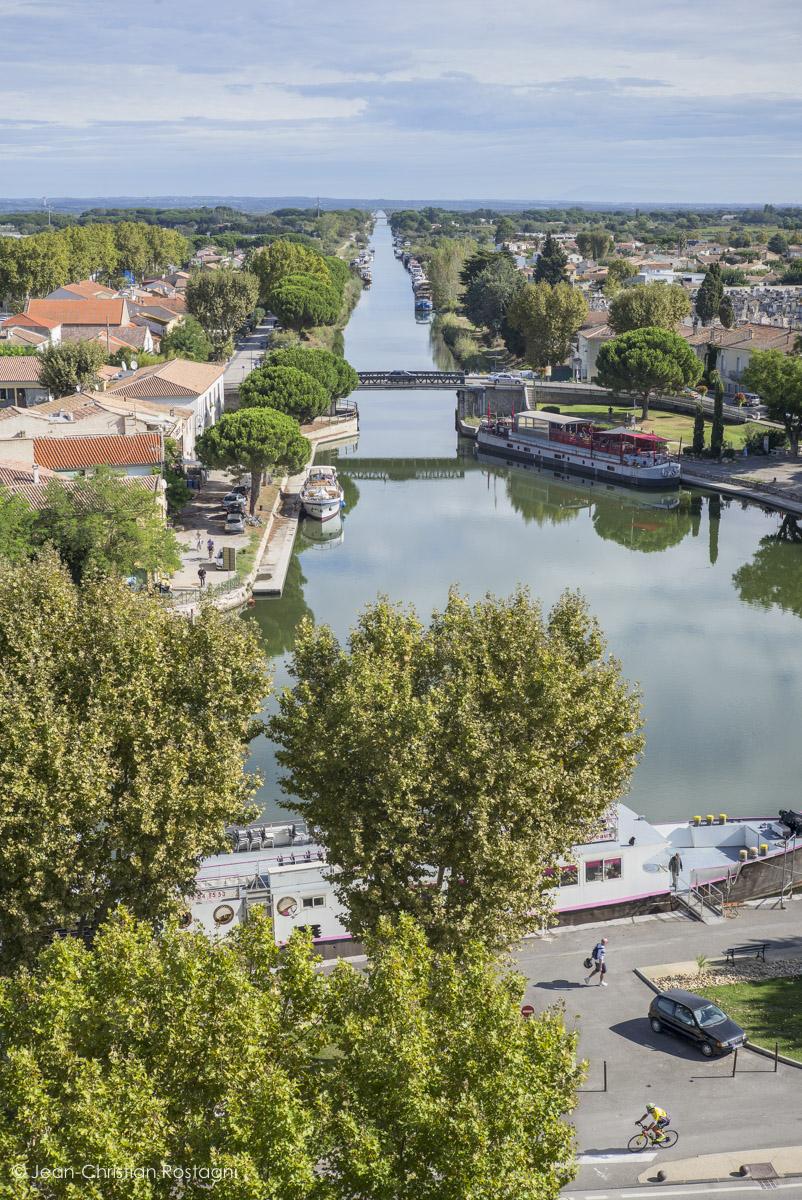 Aigues Mortes, canal du Midi