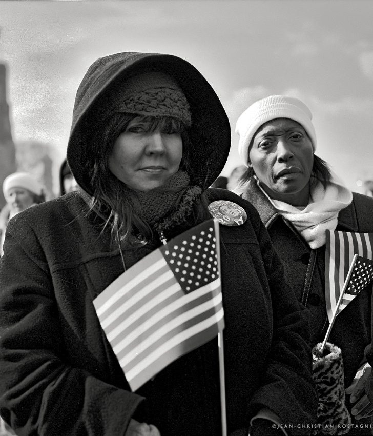 inauguration obama racial contrast