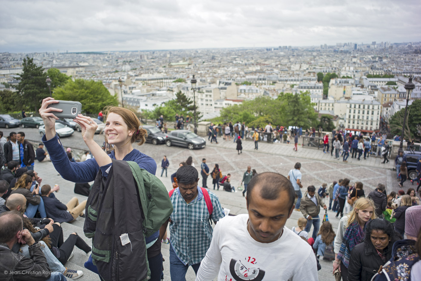 paris, montmartre, selfie