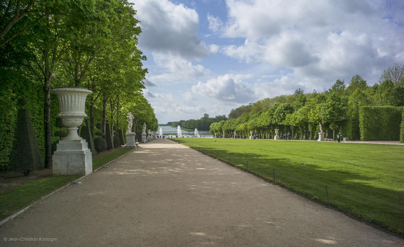 versailles, castle, garden, grand canal