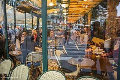 café, paris, Left bank