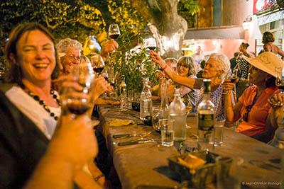 dinner in Vacqueyras
