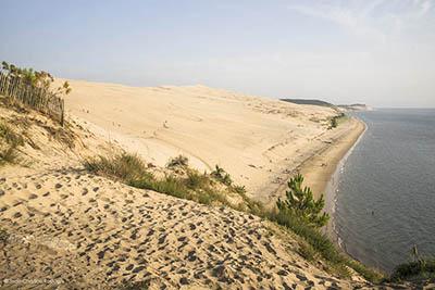 dune pilat, vue la corniche